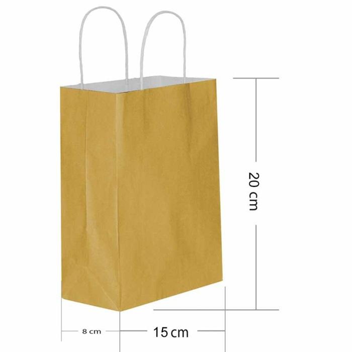Altın Kraft Çanta Minik 15x20 cm. - 25 Adet